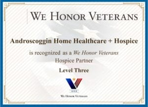 We Honor Vets Level 3 Certificate