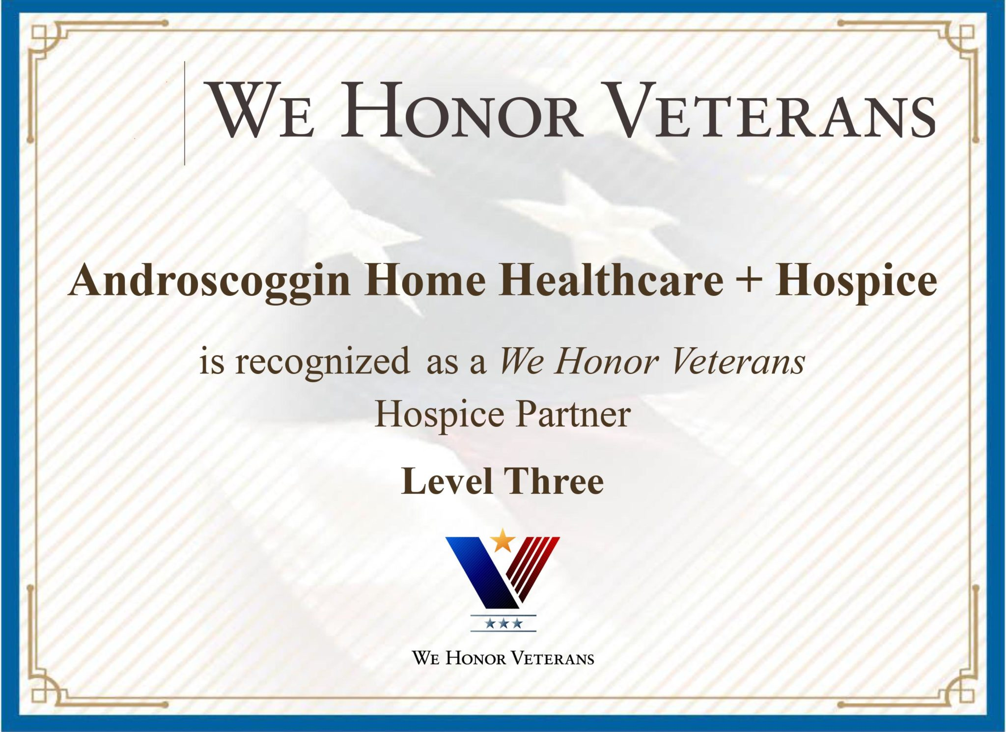 We Honor Vets 3-Star Certification - Androscoggin Home
